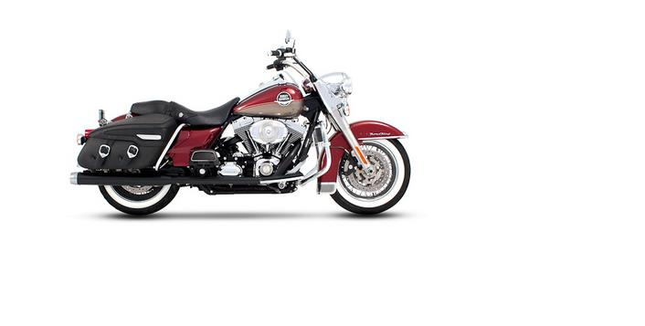 Rinehart Classic Duals Black with 3 1/2 inch Mufflers with Chrome tips for 2009 Harley Touring Models